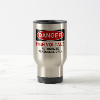 Danger High Voltage Travel Mug
