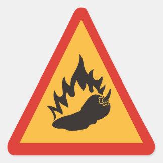 Danger hot chili pepper triangle sticker
