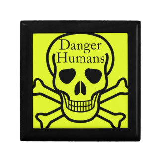 Danger humans small square gift box