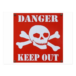 Danger Keep Out Postcard