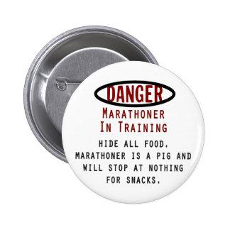 Danger Marathoner 6 Cm Round Badge