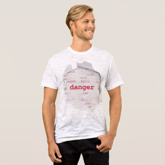 danger Men's Canvas Fitted Burnout T-Shirt