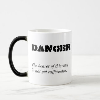 """Danger!"" Morphing Coffee Mug"