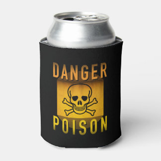 Danger Poison Warning Retro Atomic Age Grunge : Can Cooler