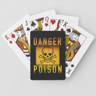 Danger Poison Warning Retro Atomic Age Grunge : Playing Cards