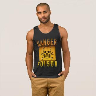 Danger Poison Warning Retro Atomic Age Grunge : Singlet