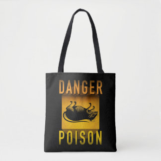 Danger Poison Warning Retro Atomic Age Grunge : Tote Bag