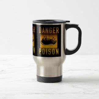 Danger Poison Warning Retro Atomic Age Grunge : Travel Mug