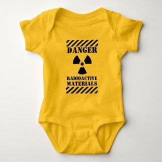 Danger Radioactive Materials Funny Halloween Baby Bodysuit
