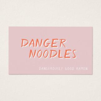 Danger Ramen: The Hippest Restaurant Business Card