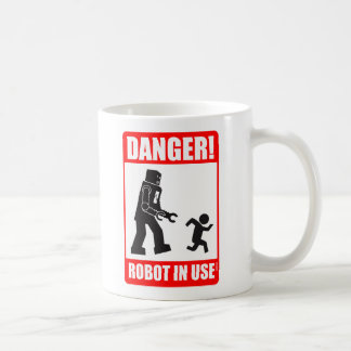 Danger! Robot in Use Mug
