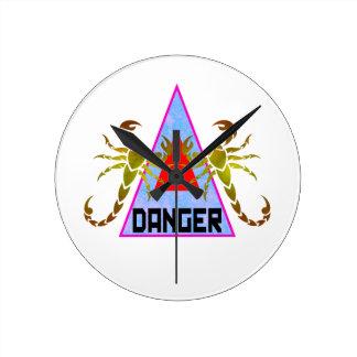 Danger Round Clock