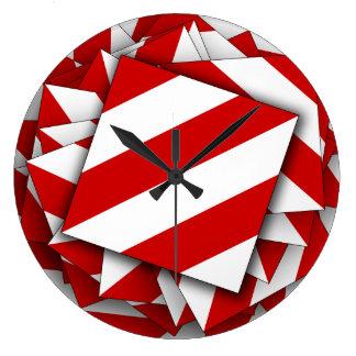 Danger Shield Large Clock