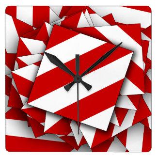 Danger Shield Square Wall Clock