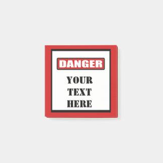 Danger Sign Custom Post It 3x3 Post-it Notes