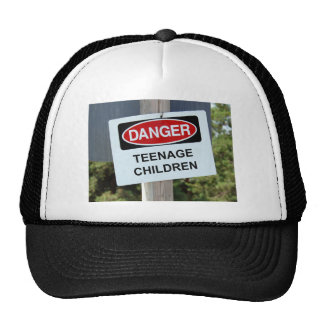 Danger Sign Teenage Cap