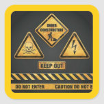 Danger Signs (7) garcya Sticker