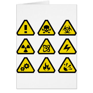 Danger signs card