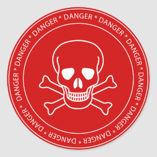 Danger - Skull Sign Sticker