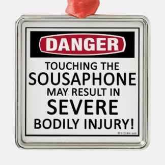 Danger Sousaphone Metal Ornament