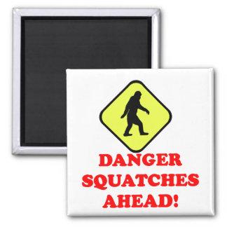 Danger squatches ahead fridge magnets