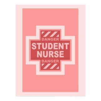 Danger Student Nurse -pink Postcard