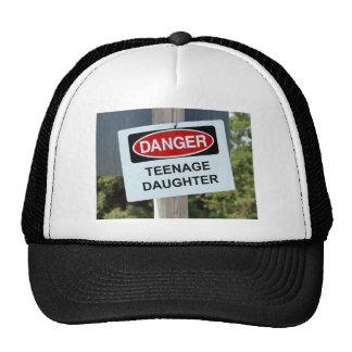 Danger Teenage Daughter Sign Cap