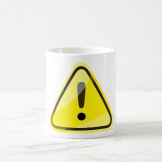 danger traffic sign coffee mug