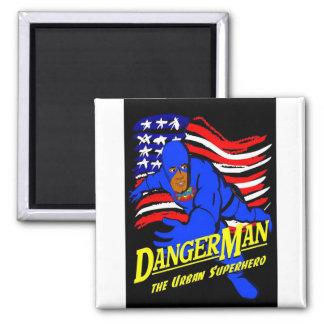 Dangerman Flag Magnet 001