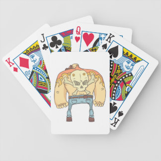 Dangerous Criminals Set Of Outlined Comics Style Bicycle Playing Cards