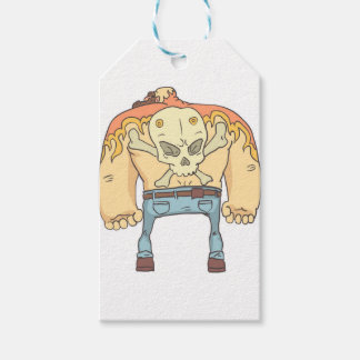 Dangerous Criminals Set Of Outlined Comics Style Gift Tags