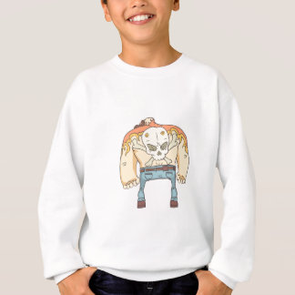 Dangerous Criminals Set Of Outlined Comics Style Sweatshirt
