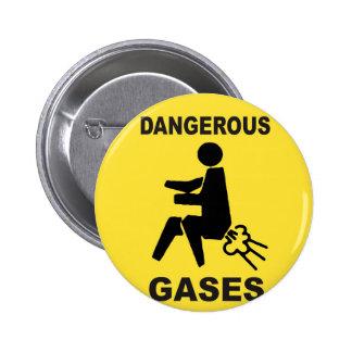 Dangerous Gases 6 Cm Round Badge