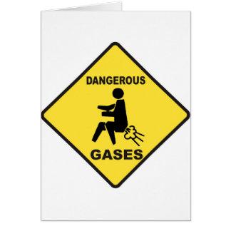 Dangerous Gases Greeting Card