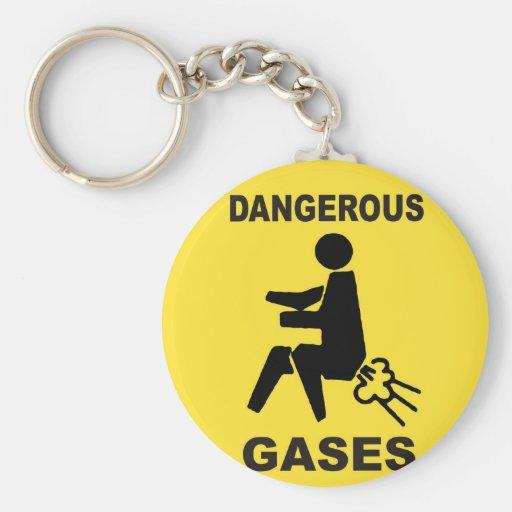 Dangerous Gases Keychain