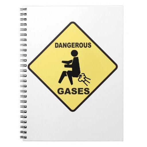 Dangerous Gases Spiral Notebook