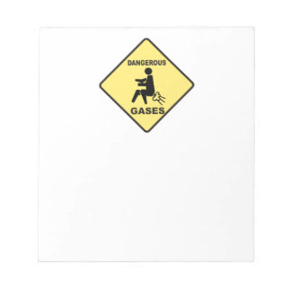 Dangerous Gases Memo Notepads