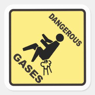 Dangerous Gases Square Sticker