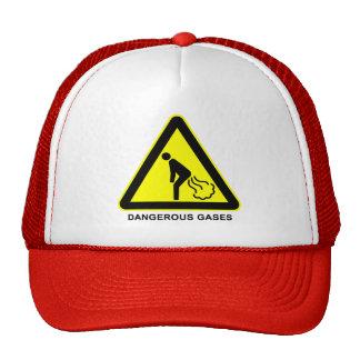 Dangerous Gases Warning Sign Cap