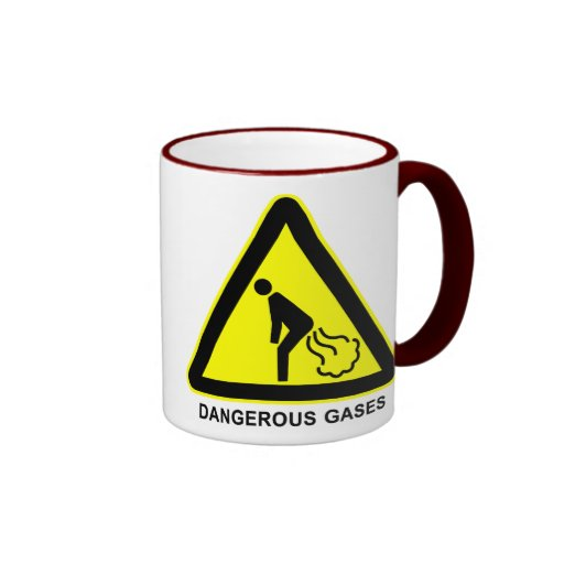 Dangerous Gases Warning Sign Cup Mugs
