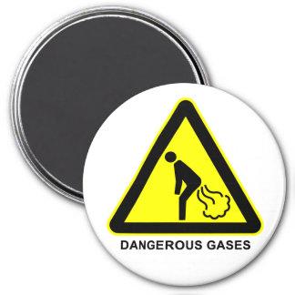 Dangerous Gases Warning Sign Magnet