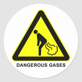 Dangerous Gases Warning Sign Sticker