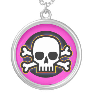 Dangerous Girl Round Pendant Necklace