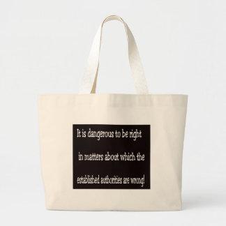 Dangerous Large Tote Bag
