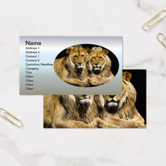 Dangerous Predator Lions Business Card