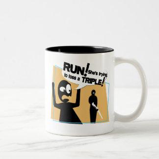 """Dangerous Rifle Toss"" Coffee Mug"
