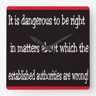 Dangerous Square Wall Clock
