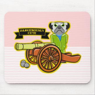Dangerously Cute Pug Dog Mouse Pad