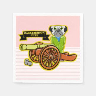 Dangerously Cute Pug Wearing Tracksuit Paper Napkin