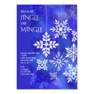 Danging Snowflakes nvitation Card